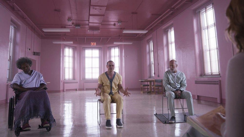 Glass - James McAvoy, Bruce Willis e Samuel L.Jackson.