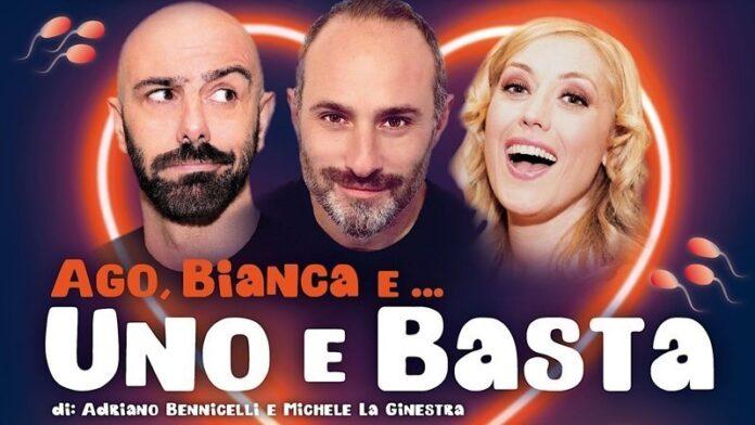Ago, Bianca e Uno e basta - locandina Alessandro Salvatori, Andrea Perrozzi, Ketty Roselli