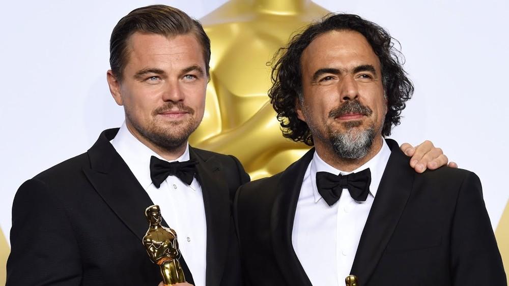 Alejandro González Iñárritu e Leonardo DiCaprio agli Oscar