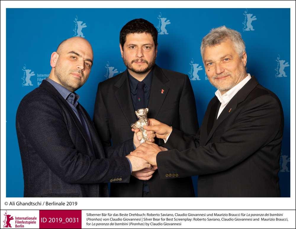 Berlino 2019 - Roberto Saviano, Claudio Giovannesi e Maurizio Braucci
