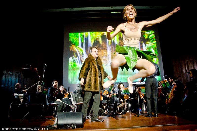 Uno scatto dallo spettacolo musicale Il libro della giungla