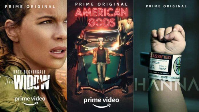 Amazon Prime Video - locandine The Widow, American Gods 2, Hanna