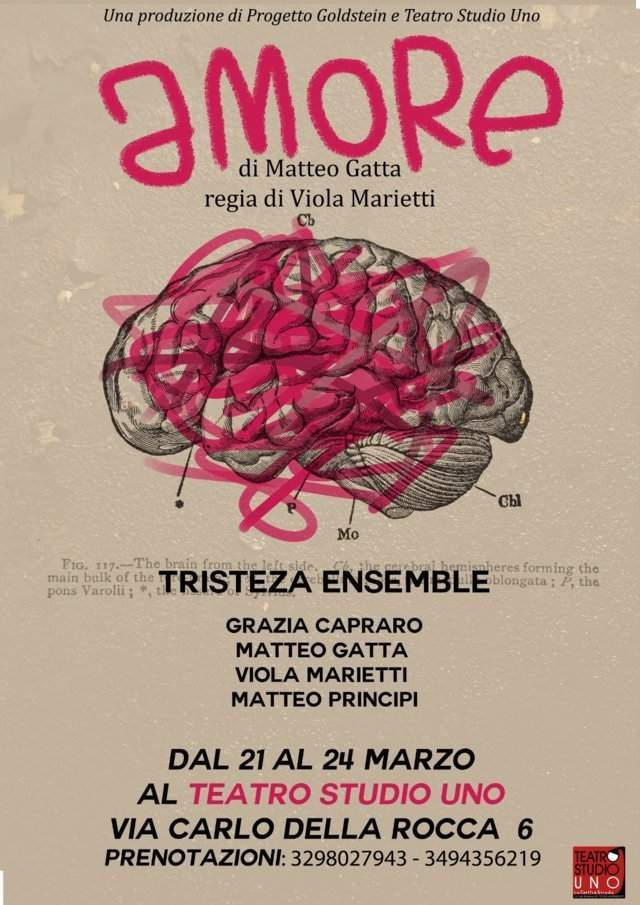 Amore - locandina Teatro Studio Uno