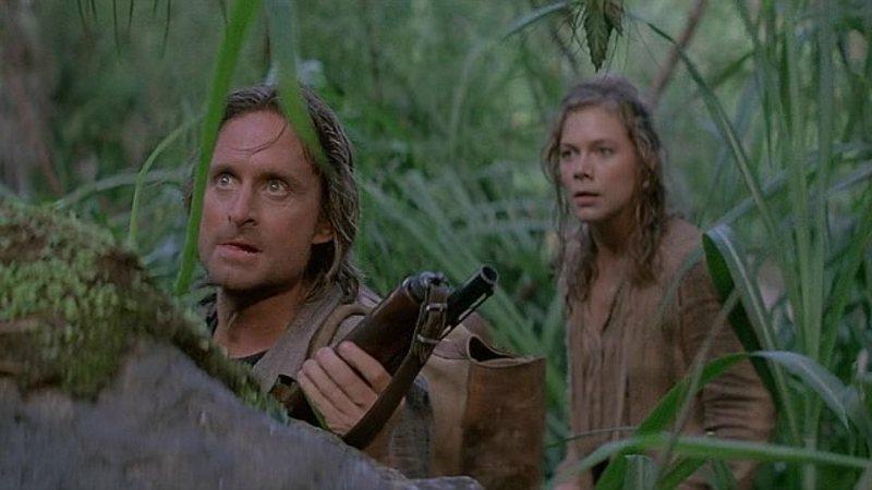 Douglas e Turner in Romancing the Stone (1984)