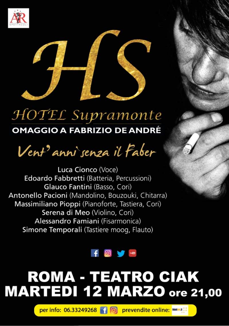 Hotel Supramonte- locandina concerto