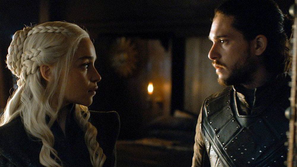Il trono spade -  Daenerys (Emilia Clarke) e Jon Snow (Kit Harington)