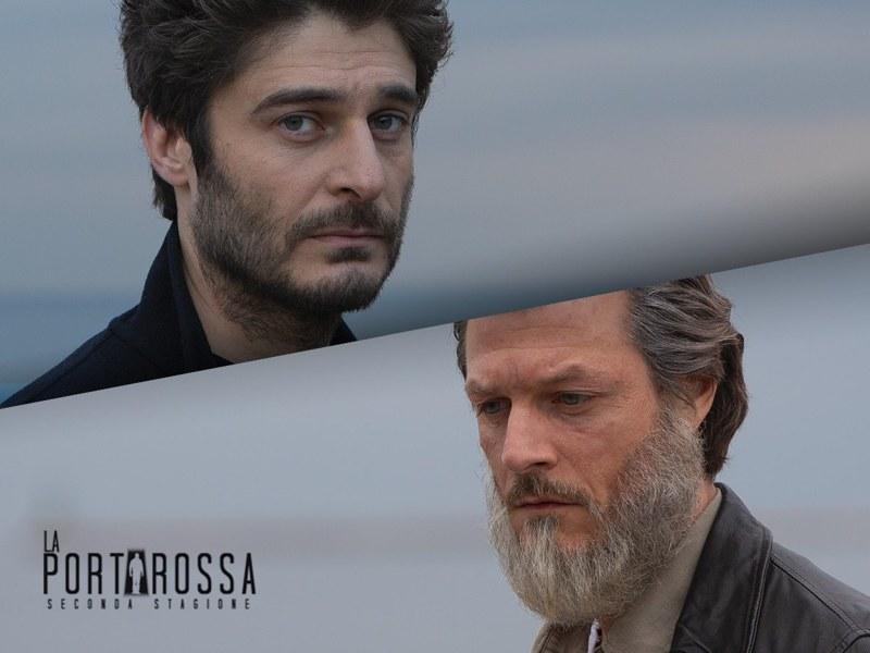 Lino Guanciale e Andrea Bosca, rispettivamente Leonardo Cagliostro ed il padre Jonas Sala