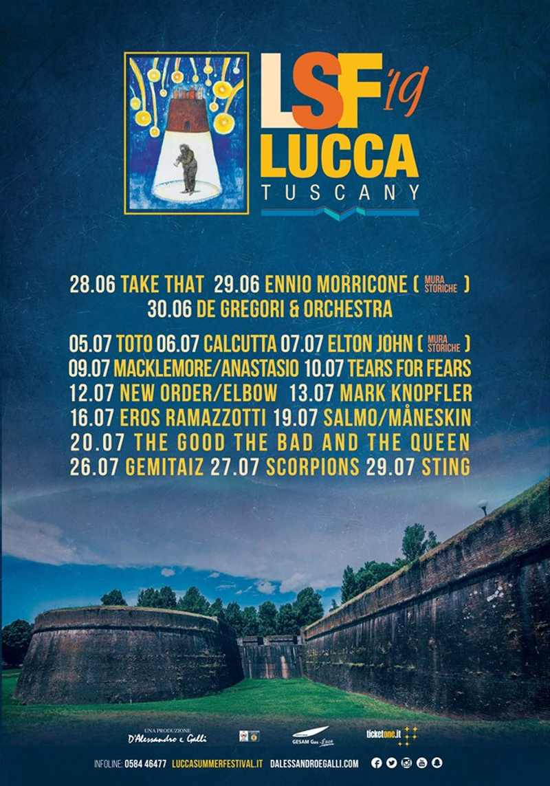 Lucca Summer Festival 2019- Date
