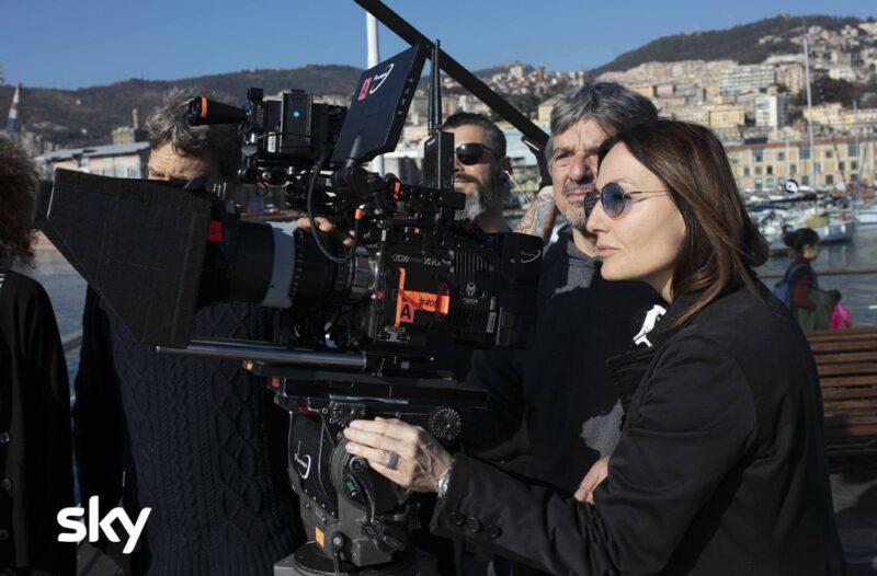 Maria Sole Tognazzi sul set di Petra