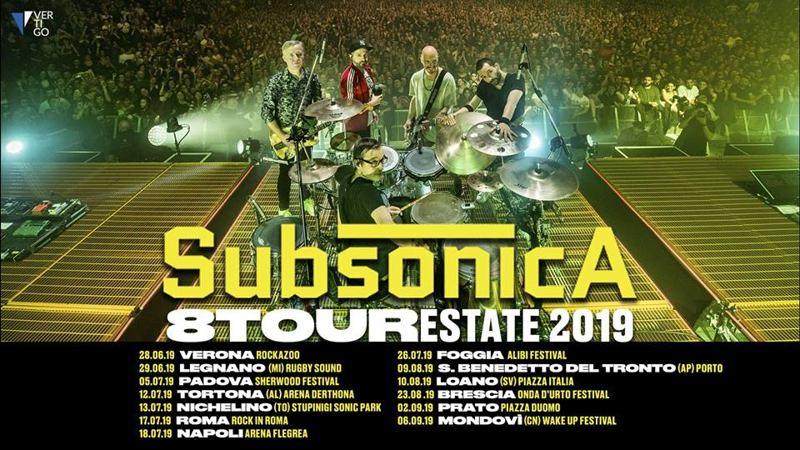 Subsonica-tour estivo 2019 date