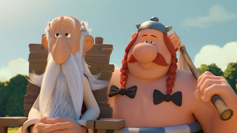 Asterix e il segreto della pozione magica: Obelix e Panoramix in una scena del film d'animazione