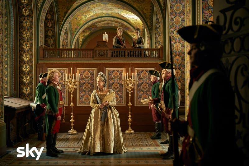 Caterina la Grande - Helen Mirren abito dorato