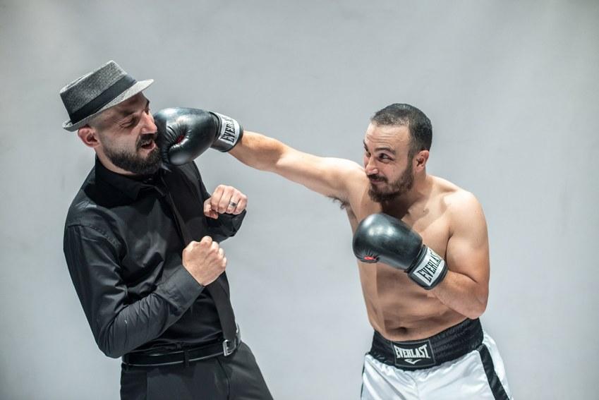 Francesco Di Leva e Pino Carbone in Muhammad Ali