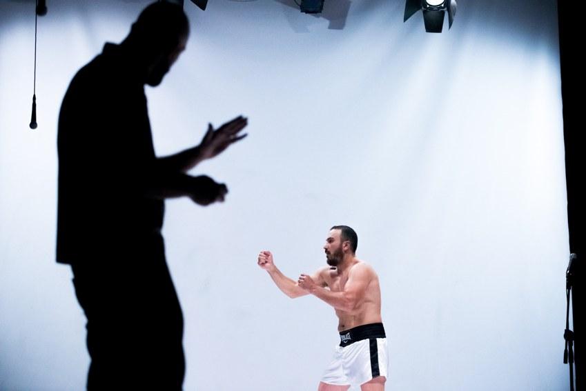 Francesco Di Leva in una scena di Muhammad Ali