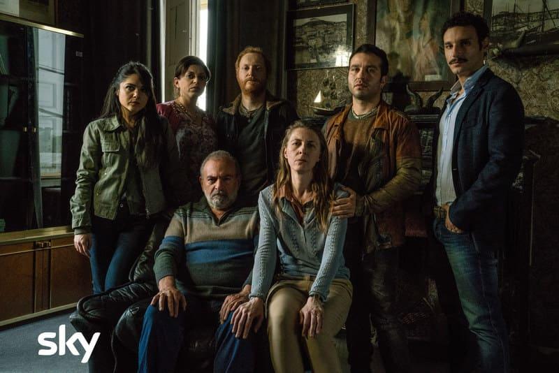 Gomorra 4 set - Claudia Tranchese, Laura Borrelli, Gianni Parisi, Antonio Gargiulo, Autilia Ranieri, Gennaro Apicella e Luciano Giugliano.