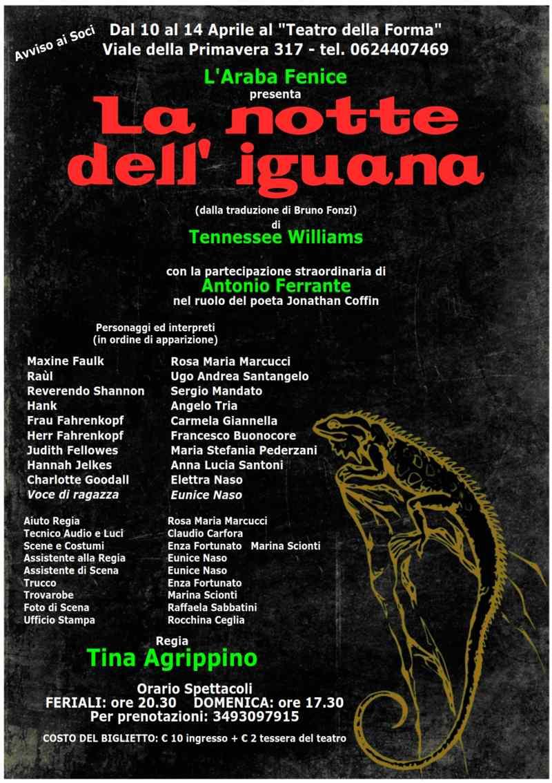 La notte dell'iguana - Locandina