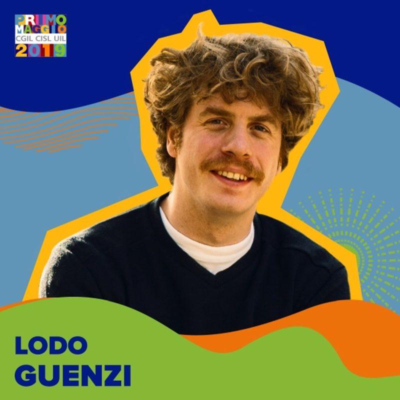 Lodo Guenzi - presentatrice concerto Primo Maggio