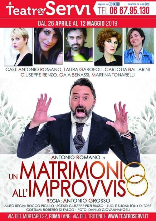 Un matrimonio all'improvviso - locandina Teatro de' Servi