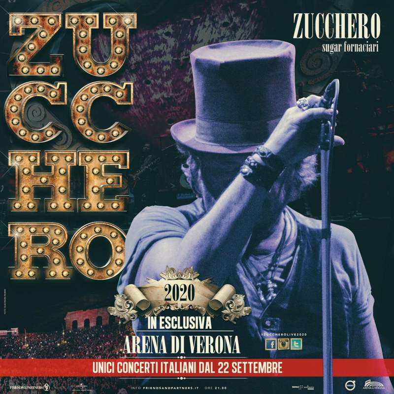 Zucchero - Arena di Verona 2019 manifesto