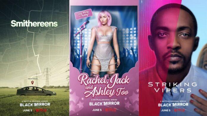 Black Mirror 5 - locandine Netflix