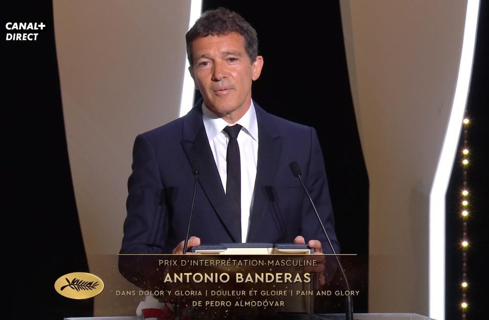 Cannes 2019 - Antonio Banderas premio miglior attore Dolor y gloria