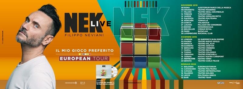 Nek - Il mio gioco preferito Tour