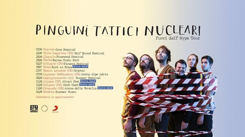 Pinguini Tattici Nucleari - Fuori dall'Hype Tour - Date estive