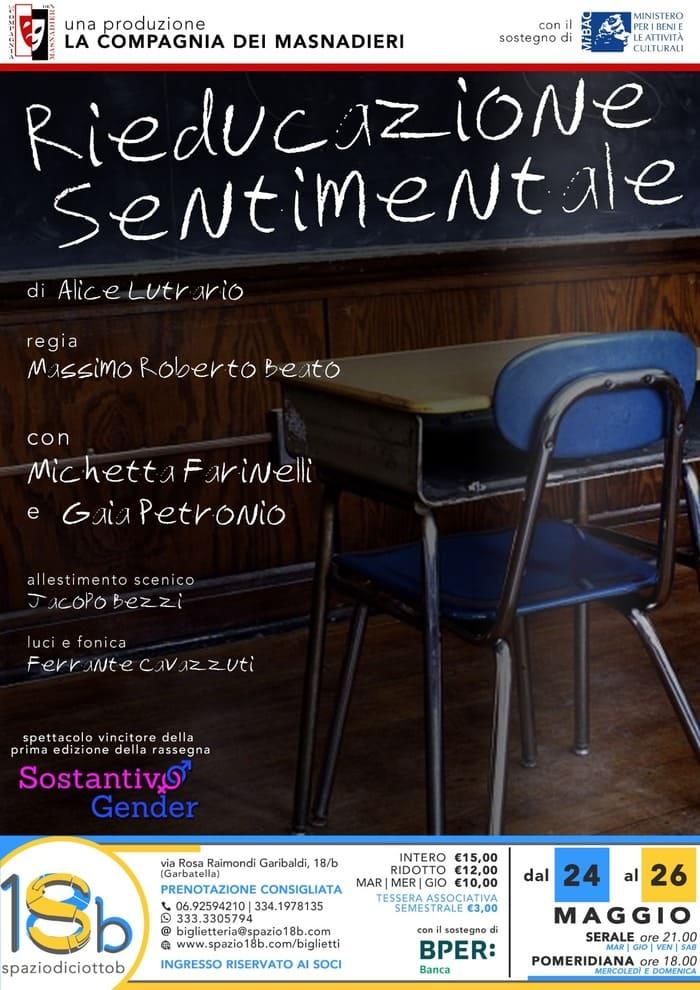 Sostantivo Gender - Rieducazione Sentimentale locandina Spazio 18b