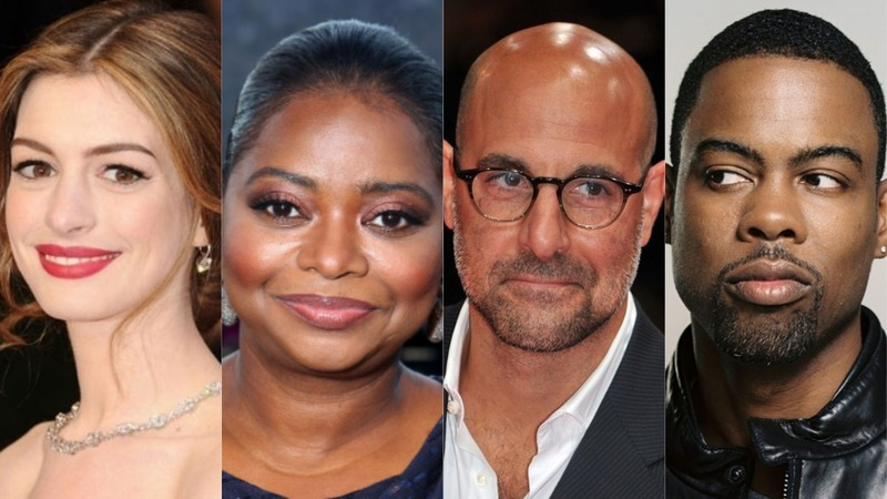 The Witches cast - Anne Hathaway, Octavia Spencer, Stanley Tucci e Chris Rock