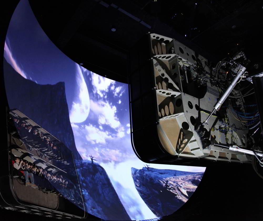 Una immagine del cinema volante Volarium