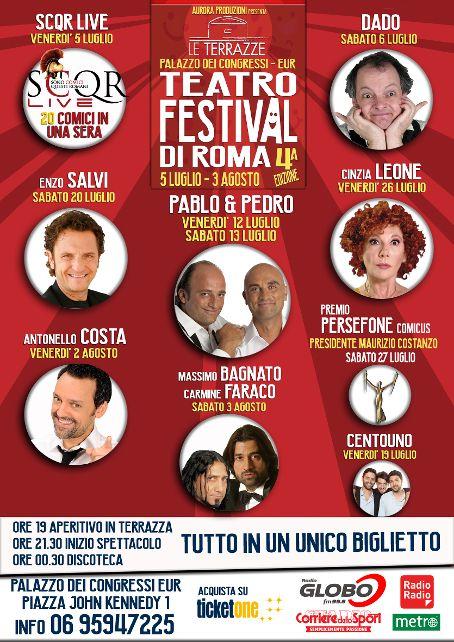 Le Terrazze Festival di Roma - locandina