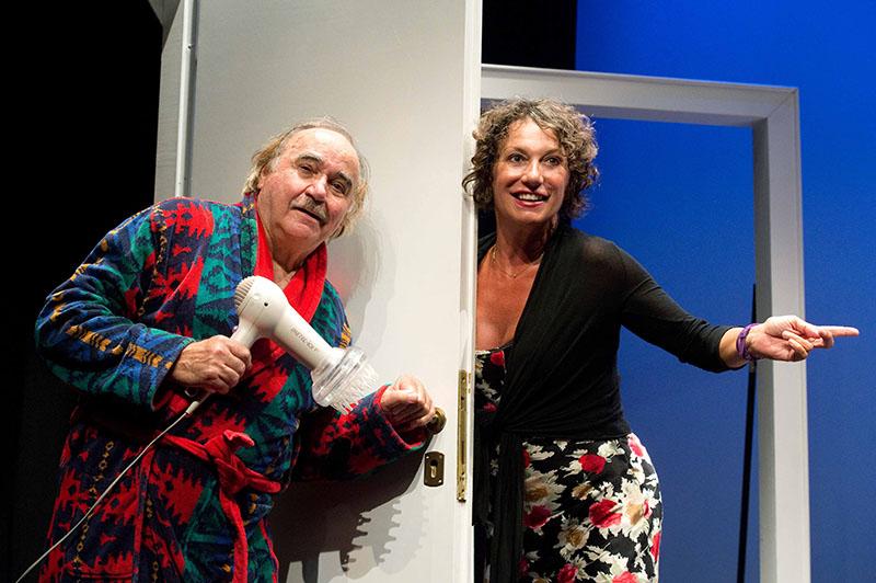 Il 22 e 23 ottobre al teatro Ghione va in scena Coppia aperta quasi spalancata, di Dario Fo e Franca Rame, con AntonioSalines e Francesca Bianco