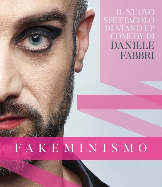 Fakeminismo - locandina spettacolo Daniele Fabbri