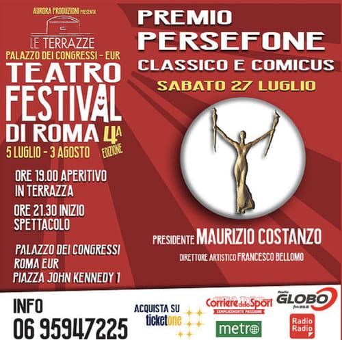 Le Terrazze Teatro Festival di Roma - Premio Persefone locandina