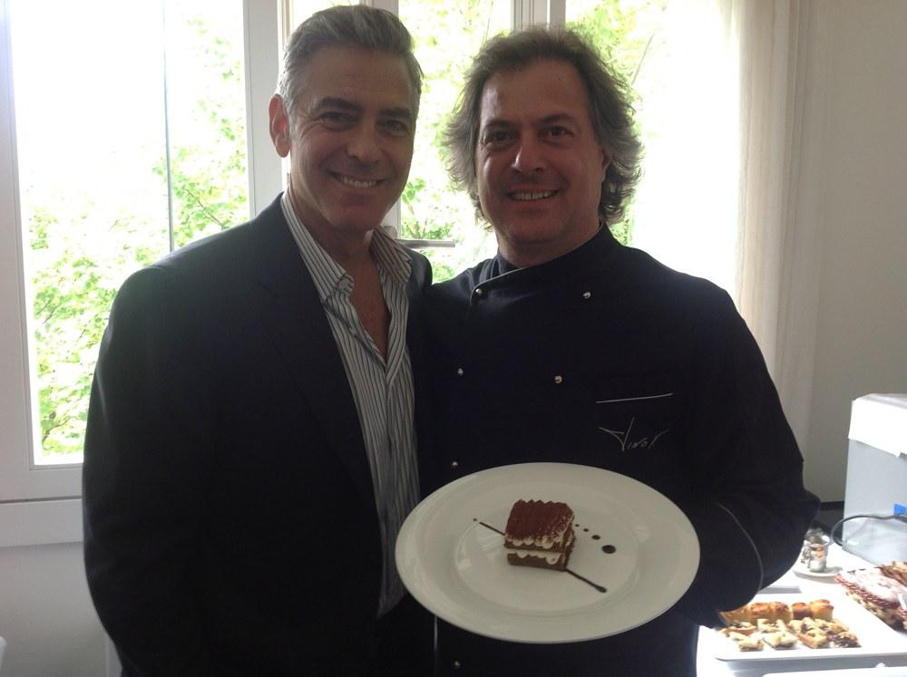 Tino Vettorello con Clooney