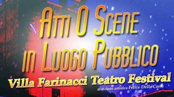 Atti O Scene in Luogo Pubblico - locandina Villa Farinacci Teatro Festival