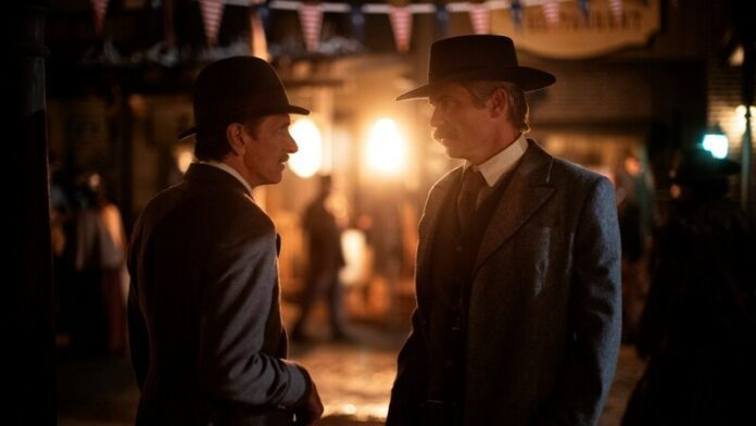 Deadwood il film - John Hawkes e Timothy Olyphant