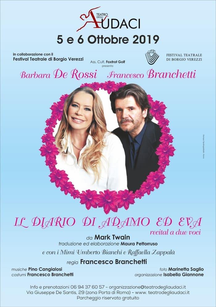 Il diario di Adamo ed Eva - Barbara De Rossi e Francesco Branchetti locandina