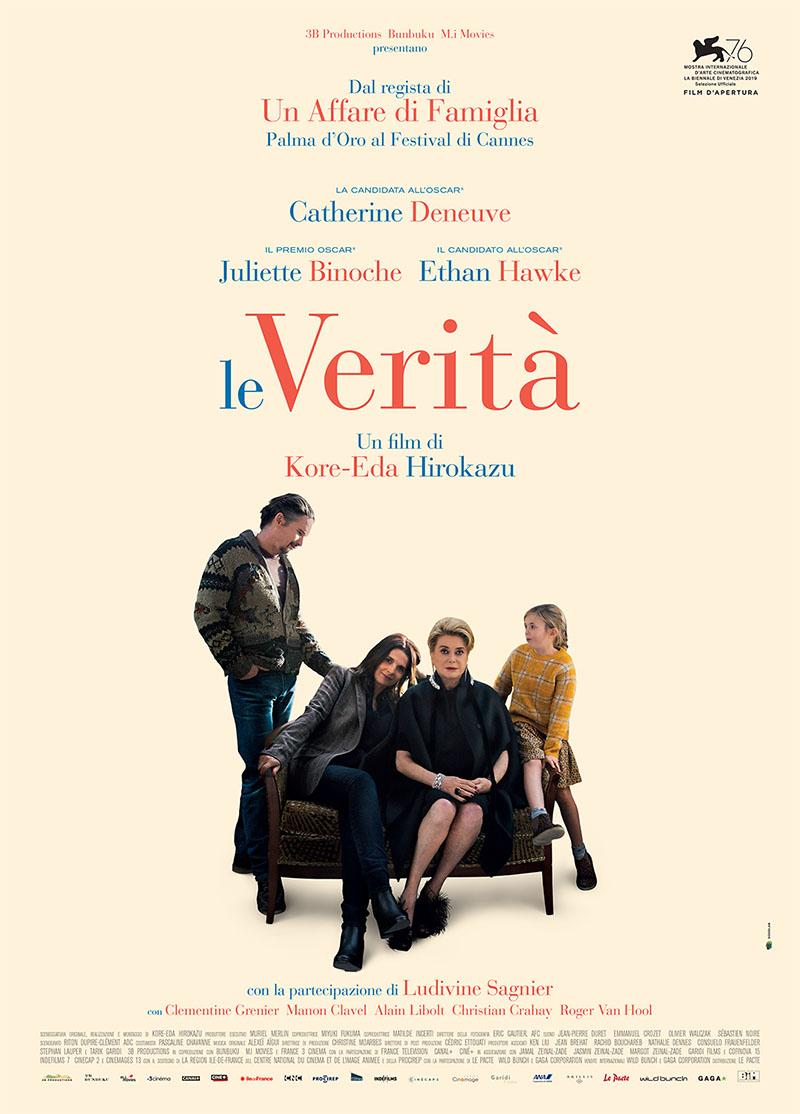 Le verità: il poster del film con Catherine Deneuve, Juliette Binoche e Ethan Hawke