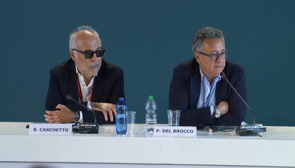 Martin Eden - Beppe Caschetto e Paolo Del Brocco in conferenza stampa a Venezia 76