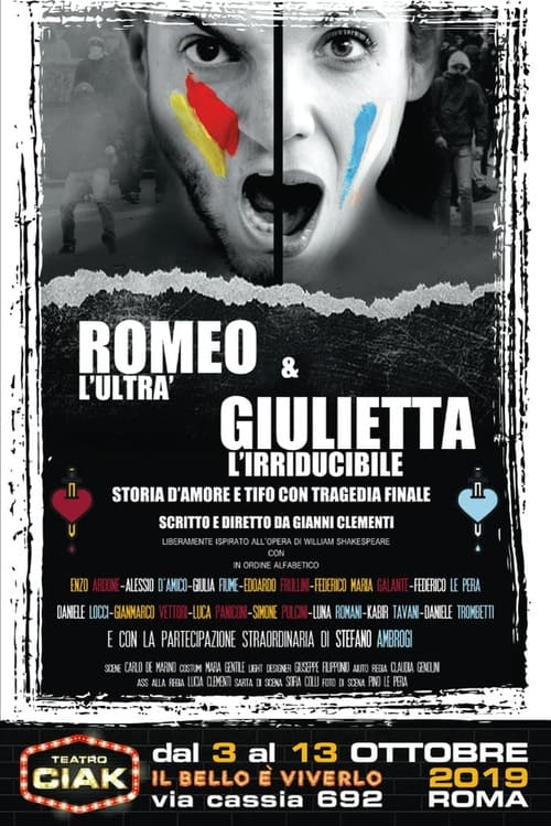 Romeo l'Ultrà e Giulietta l'Irriducibile - locandina Teatro Ciak