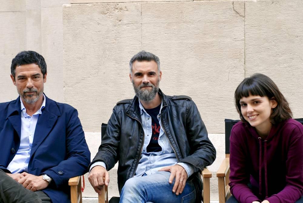 Set di Non odiare - Mauro Mancini, Alessandro Gassmann e Sara Serraiocco