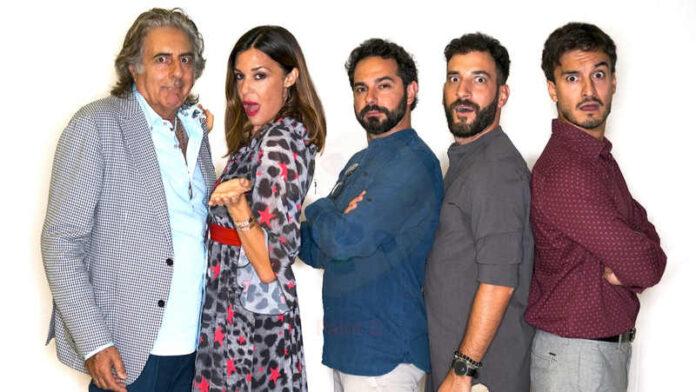 Tre uomini e una cuccia - Martufello, Alessia Fabiani, Andrea Dianetti, Gabriele Carbotti e Leonardo Bocci