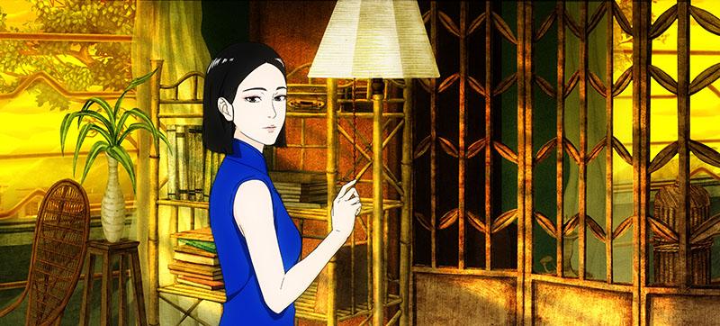 La signora Yu, nel suo appartamento al No. 7 di Cherry Lane