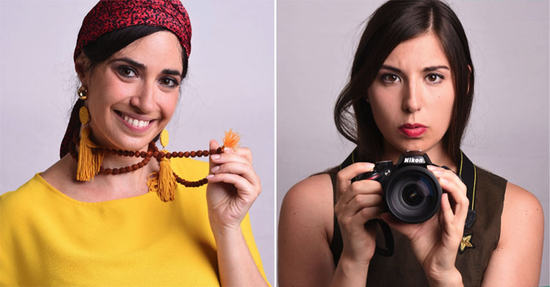 Giovanna Cappuccio e Annabella Calabrese, protagoniste di Ctrl - Z: Indietro di una mossa al Teatro de' Servi