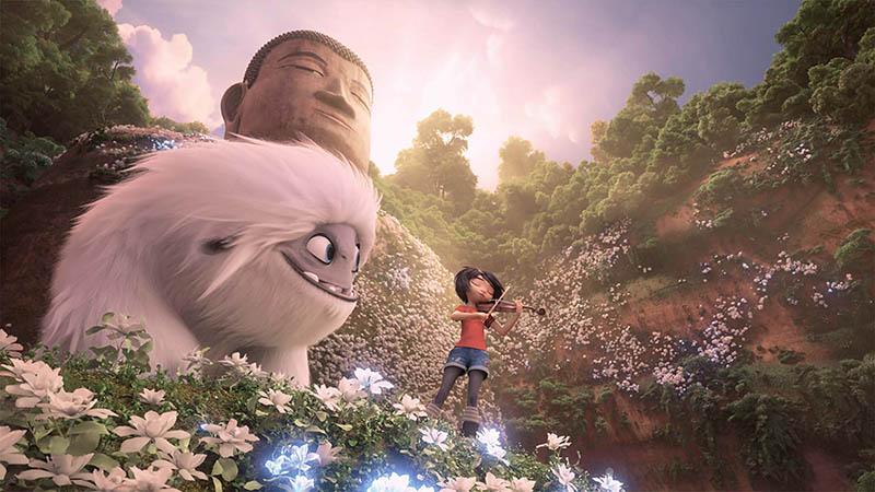 Il piccolo Yeti: Yi ed Everest nel poster finale del film d'animazione, una co-produzione DreamWorks Animation e Pearl Studio