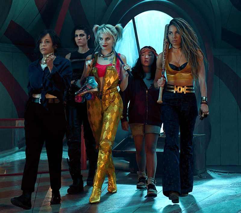 Rosie Perez, Mary Elizabeth Winstead, Margot Robbie, Ali Wong e Jurnee Smollett-Bell in Birds of Prey (e la fantasmagorica rinascita di Harley Quinn)