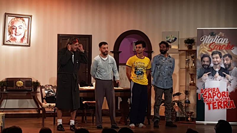 Tre uomini e una cuccia con Martufello, Alessia Fabiani, Andrea Dianetti, Gabriele Carbotti, Leonardo Bocci