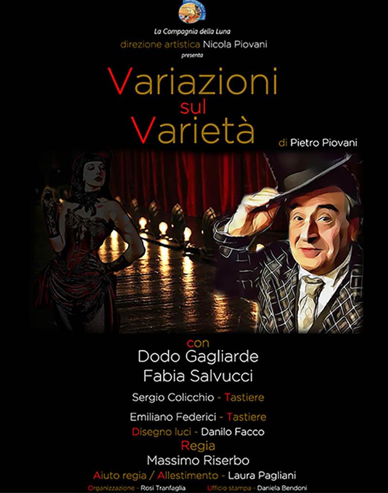 Variazioni sul varietà, al Teatro Prati La Compagnia della Luna diretta da Nicola Piovani