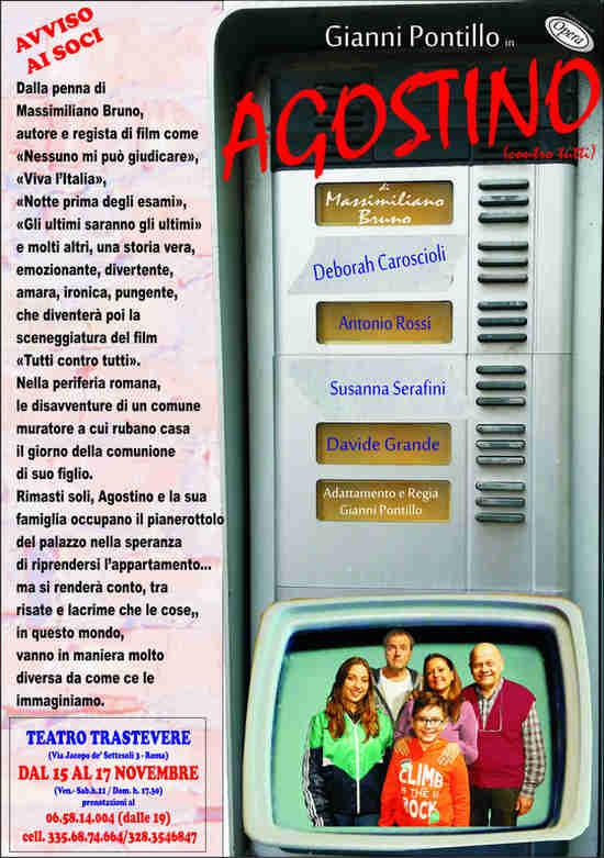 Agostino contro tutti - locandina Teatro Trastevere